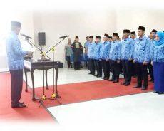 Yuda Setiawan Lantik 61 Pejabat Pemkab Pringsewu