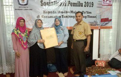KPU Bandarlampung Gelar Sosialisasi Pemilih di Majelis Taklim