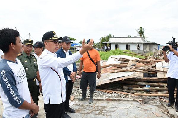 Wabup Lamtim Segera Perbaiki 22 Rumah Terkena Angin Puting Beliung