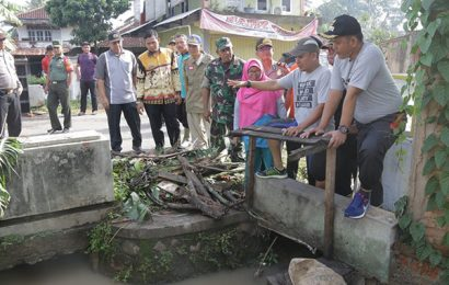 Wabup Pringsewu Tinjau Dua Lokasi Banjir