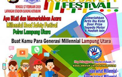 Polres Akan Gelar Kegiatan Millennial Road Safety Festival